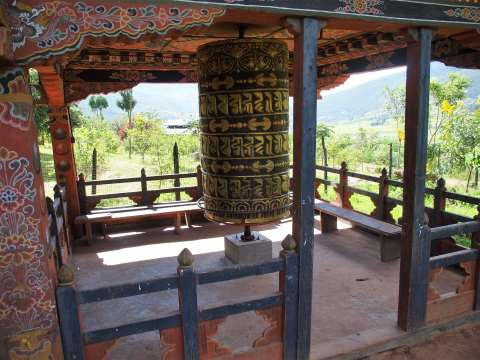 Chimmi Lakhang prayer wheel