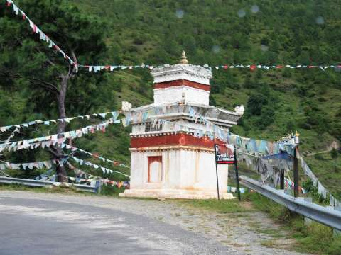 Chorten (stupa) on the roadside