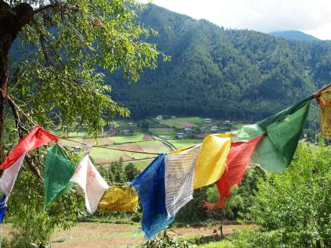 Phobjikha prayer flags