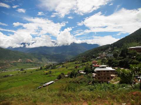 The hills of Punakha