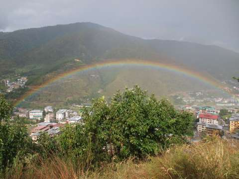 View from Buddha Point outside Thimphu